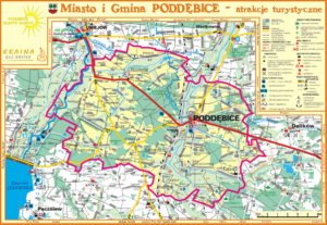 Mapa Gminy Poddębice