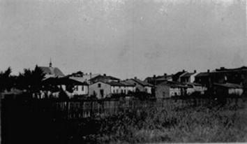 Historyczna panorama Poddębic