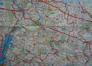 Mapa szlaków rowerowych