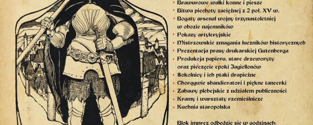 Zaproszenie na XVIII Międzynarodowy Turniej Rycerski w Łęczycy