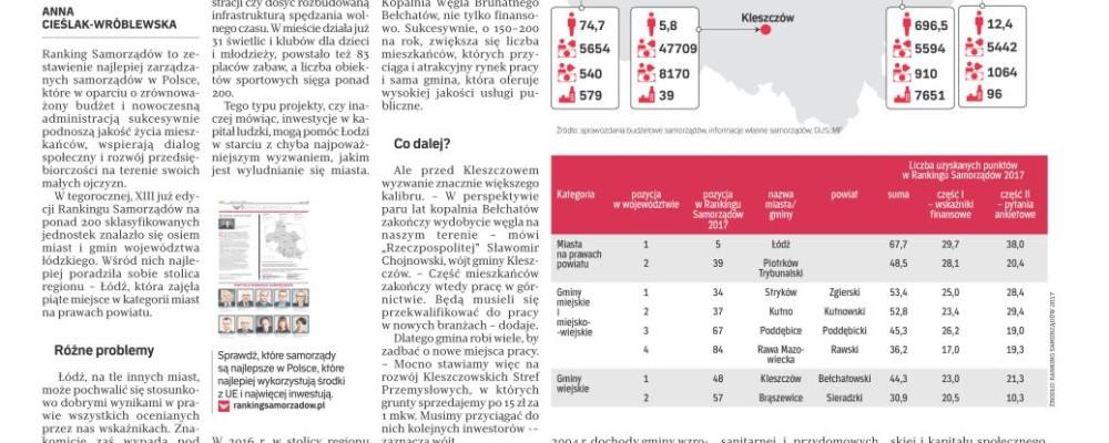 Najlepsze miasta i gminy w Łódzkiem w Rankingu Samorządów 2017