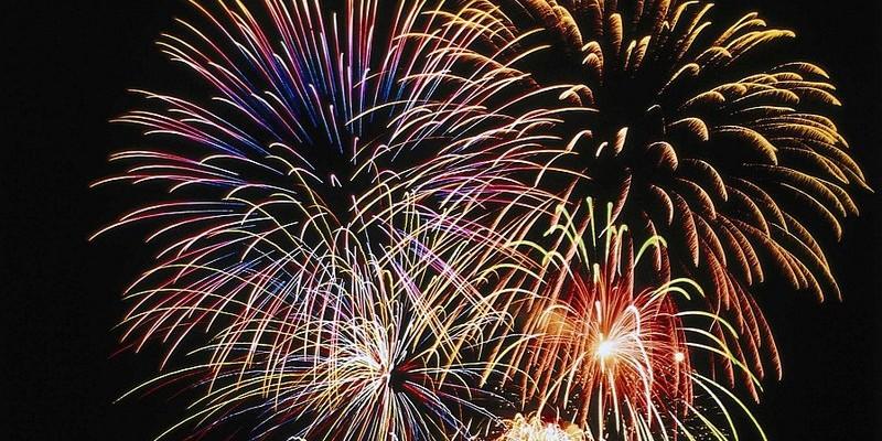 Pokaz sztucznych ogni na powitanie Nowego Roku
