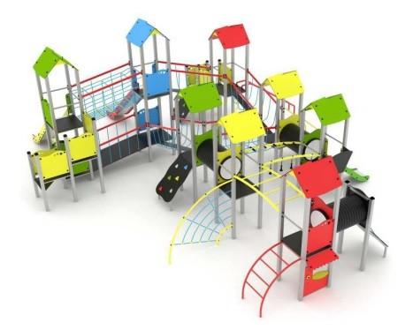 Plac zabaw dla dzieci, siłownia dla starszych