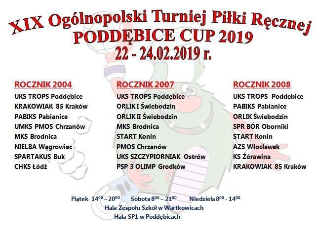 Przed nami XIX Ogólnopolski Turniej Piłki Ręcznej Poddębice Cup 2019