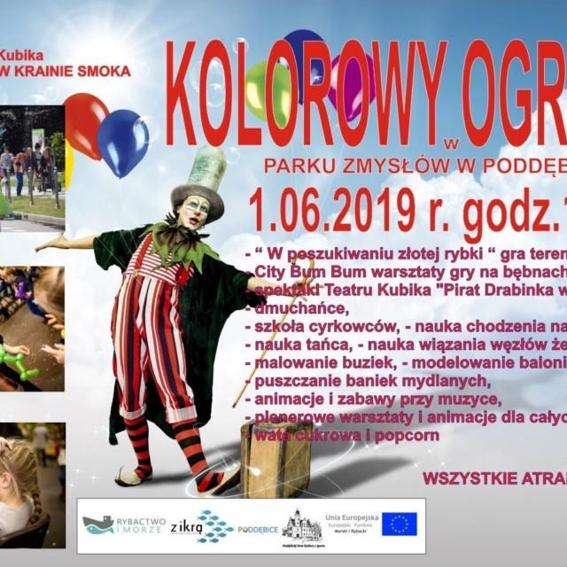 """""""Kolorowy Ogród"""" w Parku Zmysłów w Poddębicach"""
