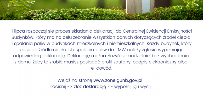 Informacja ws. deklaracji do Centralnej Ewidencji Emisyjności Budynków (CEEB)